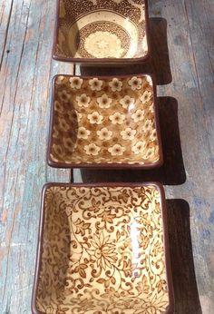 3 JAPAN SOUSAKU SOUND COLLECTION POTTERY SUSHI /SAUCE BOWLS DIPPING DISH SEPIA #Sousaku Japanese Pottery, Table, Crafts, Japanese Ceramics, Manualidades, Tables, Handmade Crafts, Craft, Desk