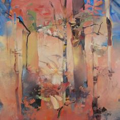 October Thicket oil on panel 12x12 Randall David Tipton