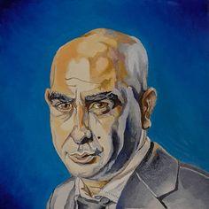portrait of Barak Cohen, painted by Roee Lavan, oil on canvas, 2020 Cancer Treatment, Oil On Canvas, Portrait, Painting, Art, Art Background, Headshot Photography, Painting Art, Kunst