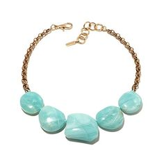 "elements by NEST Amazonite and Bronze 19"" Necklace"