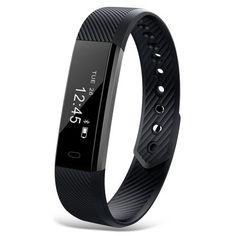 ID115 (Bluetooth Smart Wristband  BLACK Sports Sleep Monitor USB Rechargeable Interface) -  $9.99 #Bluetooth, #Smart,   #Wristband