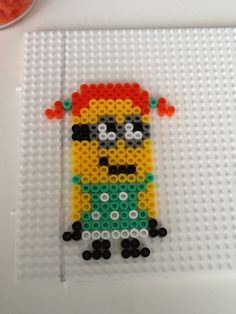 Girl Minion hama perler beads by Sofie Overmark Petersen