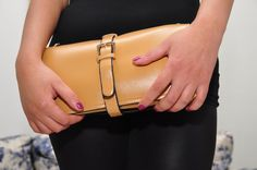 clutch color leather