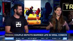 Yehuda and Maya Devir - Cute Couple Comics, Couples Comics, Funny Couples, Relationship Cartoons, Married Life, Art Studios, Maya, All Things, Cool Art