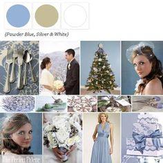 A Winter Palette of Powder Blue, Silver + White via The Perfect Palette xo
