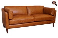 Designer ledersofa braun  Modernes Sofa – Designer Couch fürs Wohnzimmer aus Leder – schwarz ...