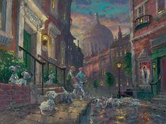 101 Dalmatians, love this painting