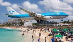 Extreme plane spotting at Maho Beach St Martin And no…it's not photo shopped before anyone says it is ! Located on the Dutch side of the Caribbean island of Saint Martin (i., Sint Maarten) is the. Places To Travel, Places To See, Travel Destinations, Hidden Beach, Destination Soleil, Saint Martin Island, Les Bahamas, Martin St, Beaches In The World