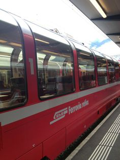 Tirano is the starting point for the amazing Bernina Express Red Train. Bernina Express, Bahn, Coaches, Alps, Switzerland, Italy, Adventure, Trains, Amazing