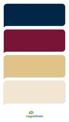 Possible color palate...just add a touch of coffee brown too.