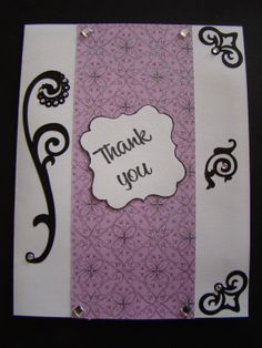 Thank you card by KraftsByKeller on Etsy, $2.50 Handmade Greetings, Greeting Cards Handmade, Your Cards, Thank You Cards, Etsy, Appreciation Cards, Wedding Thank You Cards