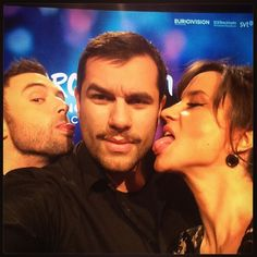 Here they are! The hosts of the Eurovision Song Contest 2016 - and a happy writer/director in the middle! Can't wait!