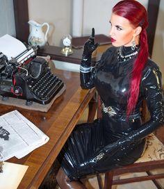 """honeyhair-model: """"http://shop.honeyhair.net Dress by Sharene #honeyhair #latex """""""