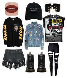 gruge extreme by netta-j-sammie on Polyvore featuring polyvore fashion style Frame Sans Souci WithChic Dr. Martens Nasaseasons clothing