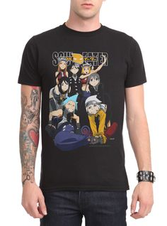 Soul Eater Group Slim-Fit T-Shirt | Hot Topic