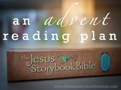 Celebrate Advent with your littles using the Jesus Storybook Bible:  WE love this book!  I am going to follow this plan starting Dec. 1st along with our advent bags!