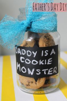 Father's Day DIY ~ Cookie Jar  Cute and easy idea!