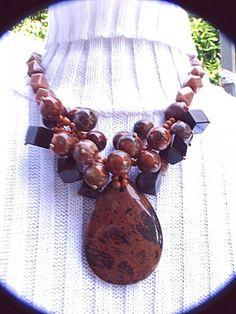 Semi-precious Stone Handwoven Neckla