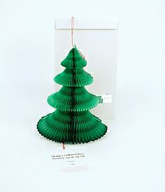 This foldout 3D Christmas tree card doubles as a tree ornament - an extra special card for family and friends - Xmas - decoration
