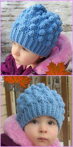 Crochet Bobble Hat Free Patterns - Crochet Bobble Beanie Toddler Free Pattern