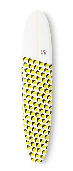 #DVFlovesROXY @DVF Hex Dot custom surfboard