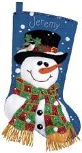 Dimensions Sequined Snowman Felt Stocking Kit