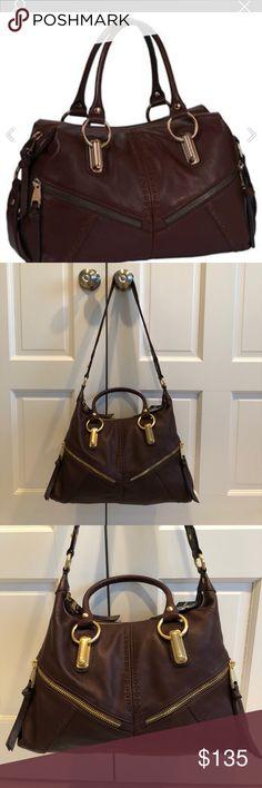 "NWT B Makowsky leather satchel color Brandy Beautiful B Makowsky bag. Soft ""brandy colored"" leather. NWT. BM16015 Varick B Makowsky Bags Satchels"