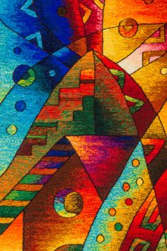 Tapestry Detail  |  Size: 80cm x 200cm Handwoven Peruvian Tapestry. Click image to learn more about the artist    |    Tapestry Art by Maximo Laura Latino Art, Art Journal Backgrounds, South American Art, Africa Art, Textile Fiber Art, Geometric Rug, Tapestry Weaving, Cross Stitch Charts, Art Decor