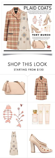 """""""Plaid Coats  / Tory Burch"""" by conch-lady ❤ liked on Polyvore featuring Tory Burch, ToryBurch and plaidcoats"""
