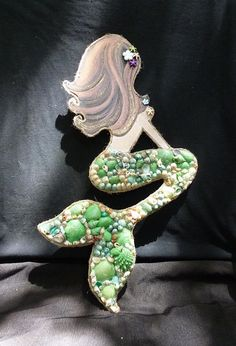 Items similar to Mermaid with Seashell Tail-wall-hanging on Etsy Mermaid Bedroom, Mermaid Wall Art, Mermaid Fairy, Mermaid Beach, Seashell Art, Seashell Crafts, Deco Marine, Mermaid Crafts, Sea Crafts