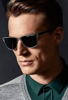 65268961114 A new interpretation of an iconic sunglass by Porsche Design. The frame is  made out