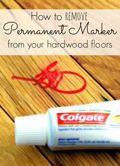 How to remove permanent marker from your hard wood floors. Super simple and fast! Pin it for when you need it!