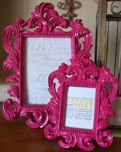 Loving these frames for the table numbers