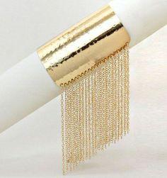 Fringe Chain Cuff  #vintage #jewelry #crafts old jewelry crafts