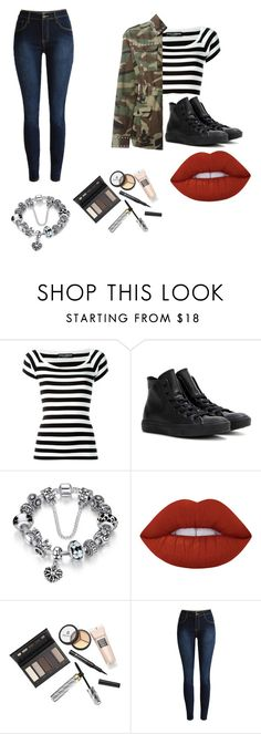 """""""Untitled #180"""" by lilicabsilveira-1 on Polyvore featuring Dolce&Gabbana, Converse, Lime Crime, Borghese and Yves Saint Laurent"""