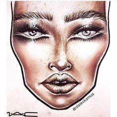 Facechart created by @olaleckamua