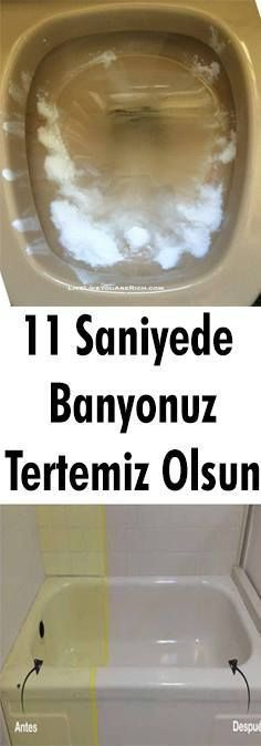 11 Saniyede Banyonuz Beyazlacak - House cleaning tips - Bathroom Cleaning Hacks, House Cleaning Tips, Green Cleaning, Home Renovation, Antibacterial Soap, Cleaning Companies, Diy Bathroom Decor, Diy Candles, Clean House