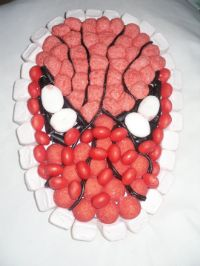gateau de bonbons spiderman