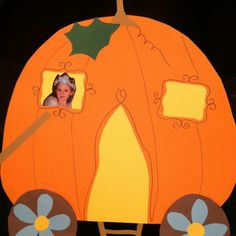 Pumpkin art for preschool  could make this for Cinderella coach complete with mice for horses