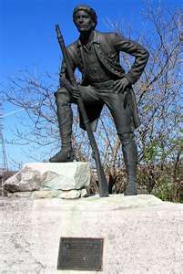 """Statue (Nashville) of Jacques-Timothée Boucher, Sieur de Montbrun, anglicized as Timothy Demonbreun  b. 1747, Montreal, Québec, Canada – d. 1826 Nashville, Tennessee, USA was a French-Canadian fur trader, an officer of the American Revolution, Lieutenant-Governor of the Illinois Territory and is known as the """"first citizen"""" of Nashville, Tennessee.  My g.g.g.g.g.g.-Grandfather."""