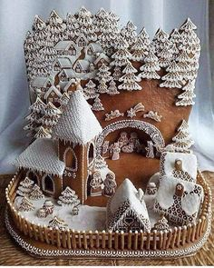Beautiful Christmas Gingerbread House Ideas - Blush & Pine Creative There is a special skill that goes into making an amazing gingerbread house. Here I'm showing my favorite Christmas gingerbread house structures for 2018 Gingerbread House Template, Gingerbread House Designs, Gingerbread Village, Christmas Gingerbread House, Noel Christmas, Christmas Goodies, Christmas Desserts, Christmas Treats, Christmas Baking