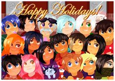 Happy Holidays Aphmau and the MyStreet cast! A special photo to commemorate the holiday season! Aphmau Twitter, Aphmau Wallpaper, Aphmau My Street, Aphmau Pictures, Aphmau Characters, Aphmau Memes, Aphmau And Aaron, Zane Chan, Cute Potato
