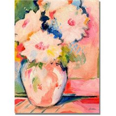 Trademark Art Henri's Bouquet Canvas Wall Art by Shelia Golden, Size: 18 x 24, Multicolor