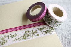 japanese washi tapes by uguisustore, via Flickr    sale at uguisu : $6.60 for the set of 2 rolls  http://uguisu.ocnk.net/product/938