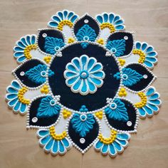 Easy Rangoli Designs Videos, Easy Rangoli Designs Diwali, Simple Rangoli Designs Images, Free Hand Rangoli Design, Small Rangoli Design, Rangoli Ideas, Beautiful Rangoli Designs, Diwali Rangoli, Rangoli Designs Peacock