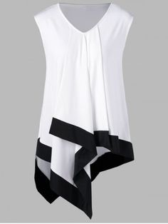 Women'S Polo Shirt Summer Women Sleeveless V Neck Shirts Casual Loose Irregular Tank Top Ladies Summer Professional Clothing Color white Size S Plus Size Crop Tops, Plus Size Pants, Plus Size T Shirts, Lace Crop Tops, Top Fashion, Plus Size Fashion, Fashion Site, Mens Fashion, Fashion Clothes