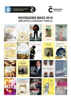Novidades literarias de maio dispoñibles na Biblioteca Municipal da Sagrada Familia