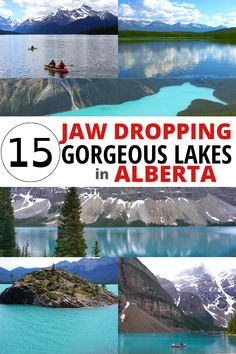 15 Beautiful lakes in the Canadian Rocky Mountains of Alberta that will take your breath away. Great excuse for a road trip to the Canadian Rockies! Lake Louise, Vermillion Lakes, Peyto Lake, Bow Lake, Maligne Lake, Moraine Lake, Abraham Lake, Waterton Lakes, Pyramid Lake, Kananaskis Lakes plus 5 more pretty lakes in Alberta you should visit – click for details and a map. Beautiful Places To Travel, Best Places To Travel, Cool Places To Visit, Canadian Travel, Canadian Rockies, Travel Ideas, Travel Inspiration, Travel Tips, Summer Vacation Spots