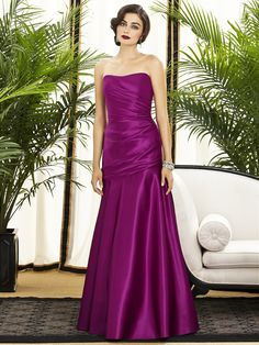 Dessy Collection Style 2876    #purple #bridesmaiddress//This is too fuschia...i wud luv in eggplant purple