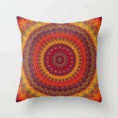 Mandala 287 Throw Pillow by Patterns Of Life | Society6